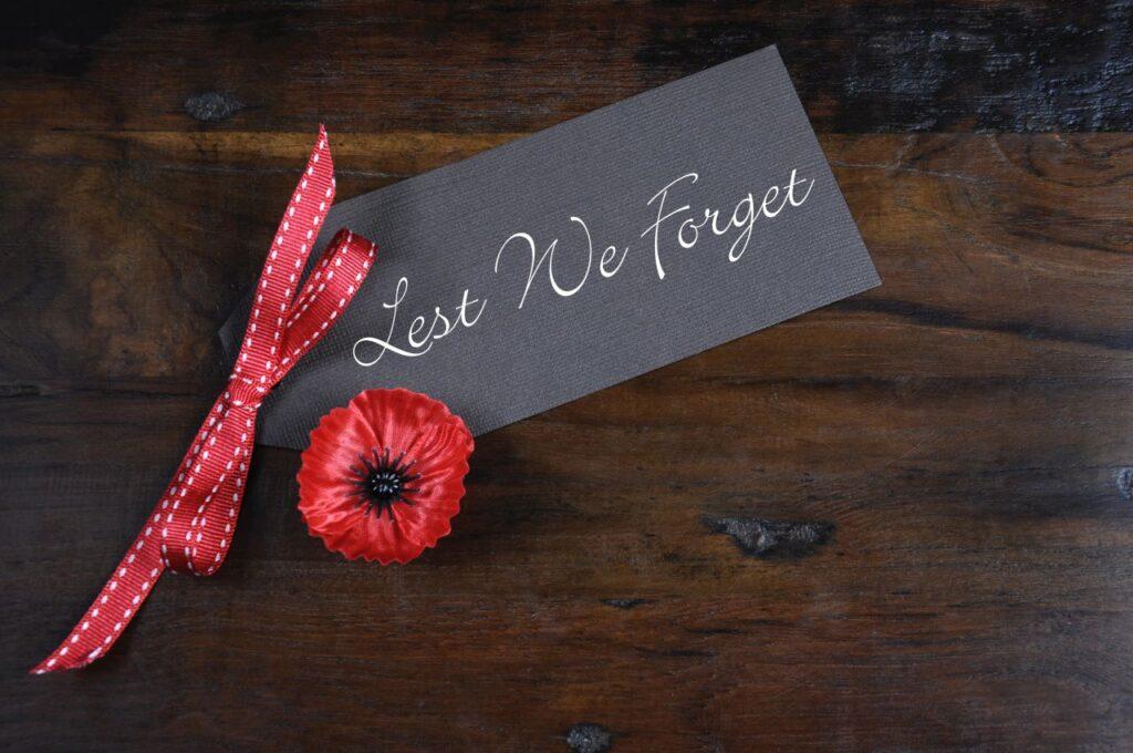 Die Mohnblume ist das Symbol des Gedenkens am Remembrance Day in Kanada. Foto amarosy / Deposit