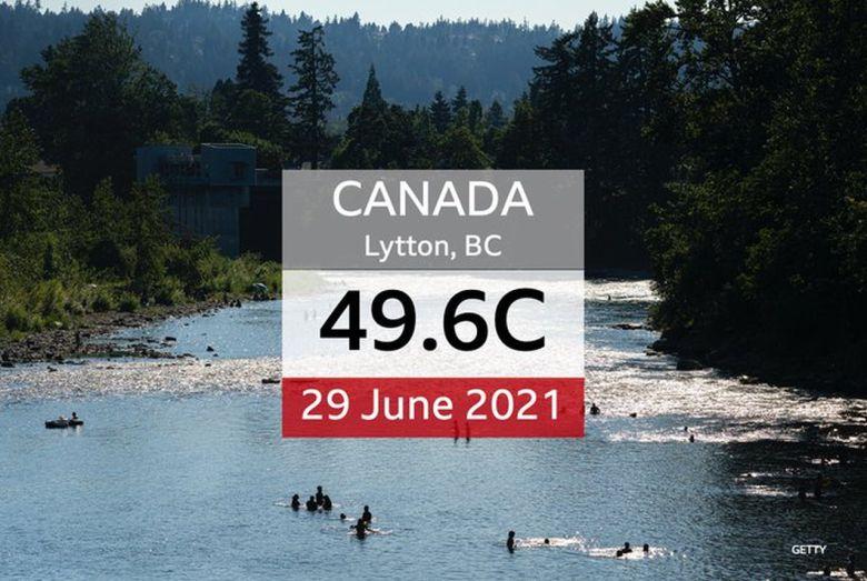 Kanadischer Hitzerekord in Lytton BC. Foto BCWeather