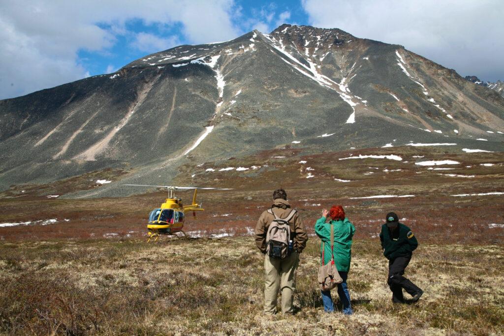 Ein besonderes Erlebnis im Tombstone Territorial Park, Heli-Hiking.