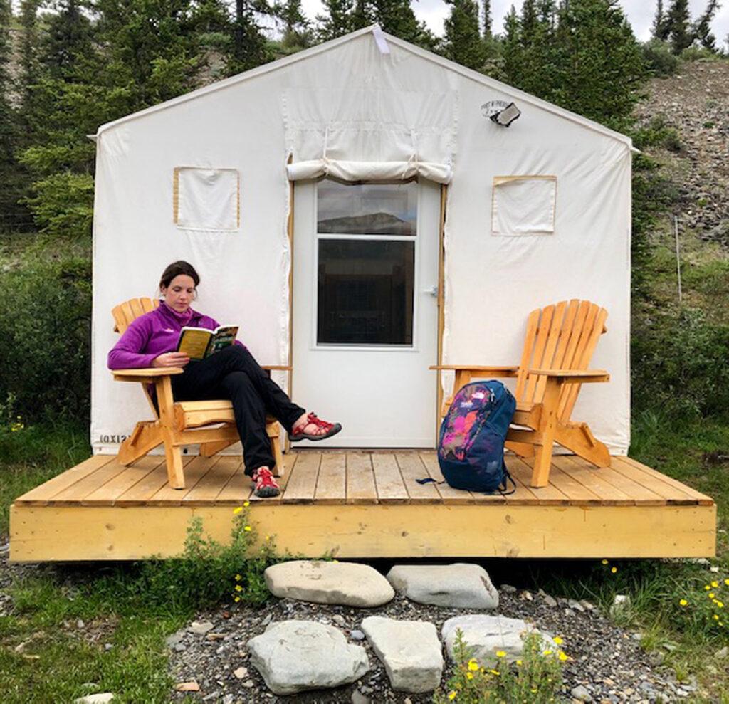 Teilweise sind die Unterkunftsmöglichkeiten in den Territorialparks des Yukon sehr spartanisch.